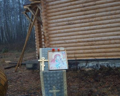 Освещение купола часовни Святой Праведной Анны Матери Пресвятой Богородицы